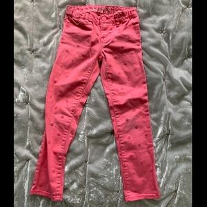 Girls Gap Coral Polka Dot Super Skinny Jeans
